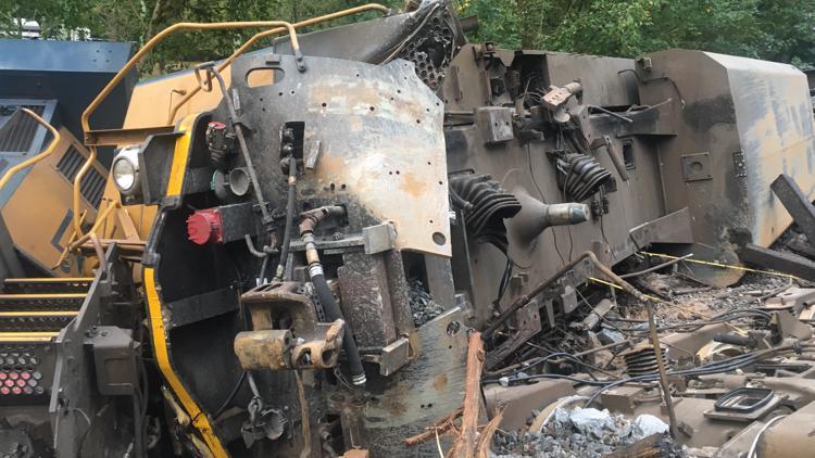 Photos: Lilburn train derailment