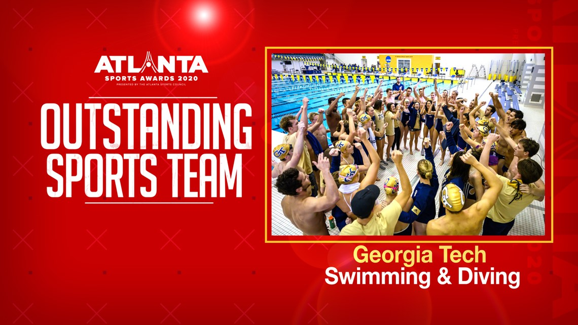 Atlanta Sports Awards | Georgia Tech Swimming and Diving named Outstanding Sports Team