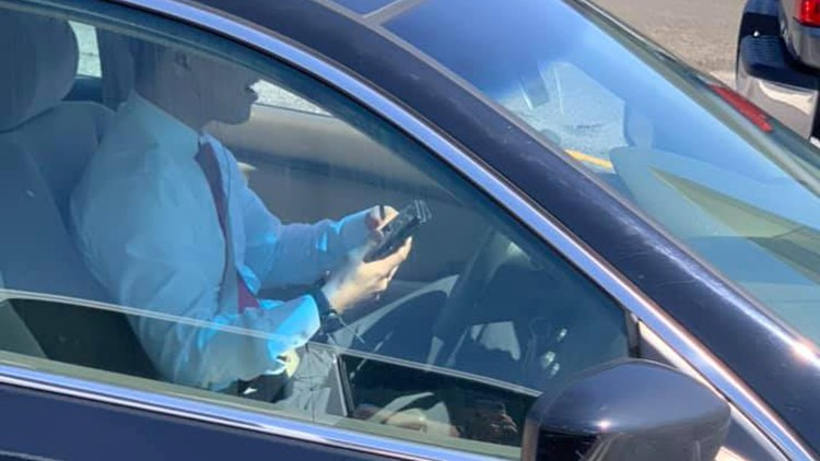 State Rep. Sam Park caught talking on a phone and driving in the HOV lane alone