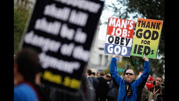 Westboro Baptist Church, local group face off in opposing protests in north Georgia