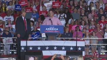 Trump invites Marine who pulled baby over Kabul airport wall onto stage at Georgia rally