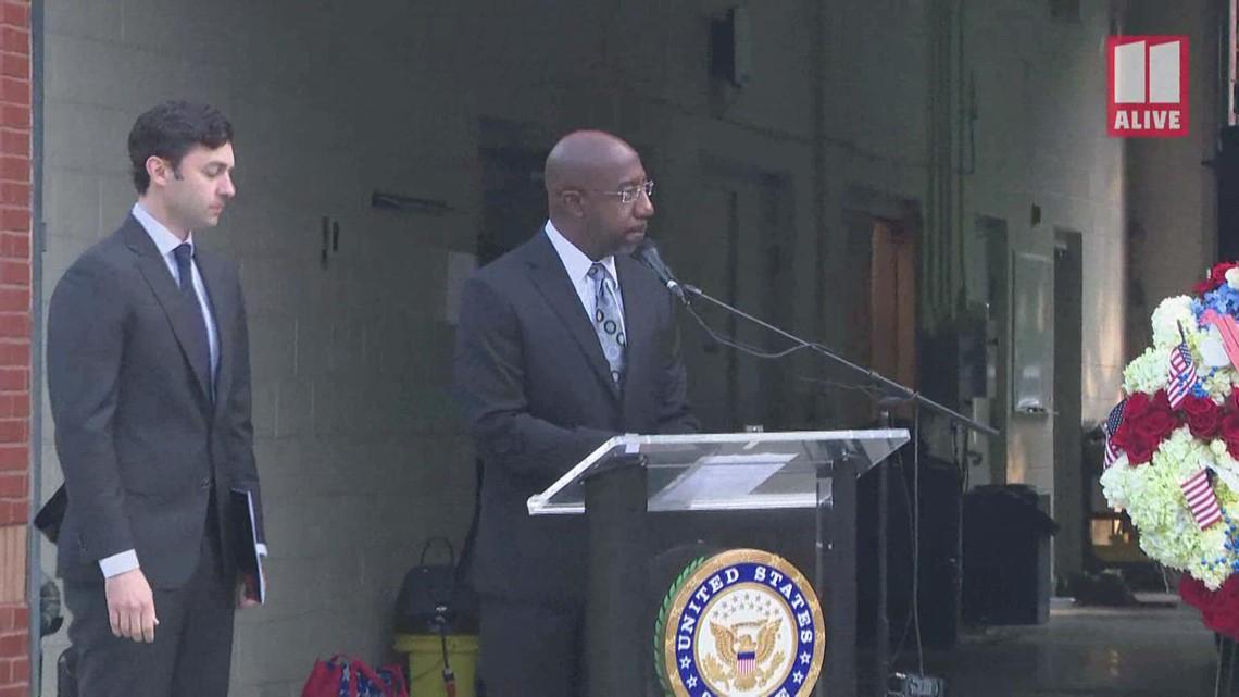 Sen. Rev. Raphael Warnock delivers prayer to mark 9/11