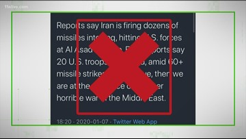 VERIFY: Misleading viral tweets after Iran missile strikes