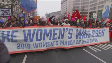 Women march in Atlanta, dozens dead in gas fire and a sliding jet