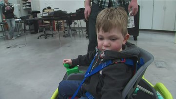 Robotics students build power wheelchair for 2-year-old