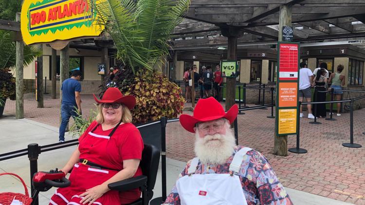 Santa Claus celebrates Christmas in July at Zoo Atlanta