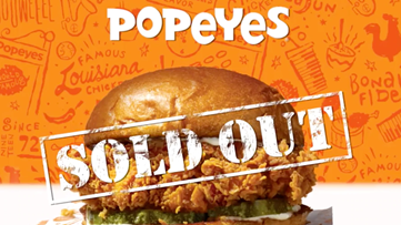 Popeyes sells 'B.Y.O.B.' sandwich to fill void until chicken sandwich returns