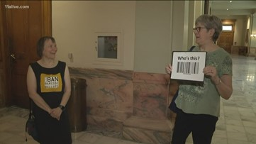 Protesters warn Gov. Kemp against barcode voting machines