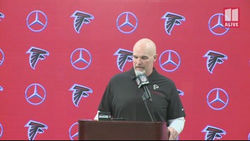 Falcons Coach Dan Quinn breaks down Sunday's win against Jaguars during final home game of season