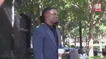 Savage family confronts R. Kelly spokesman at Atlanta press conference