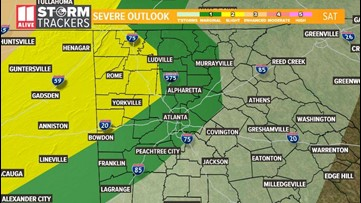 TIMELINE | Here is when to expect severe weather late Saturday night