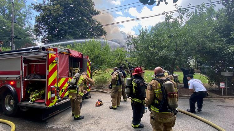 Large fire destroys home near Virginia-Highland, Morningside neighborhoods in Atlanta
