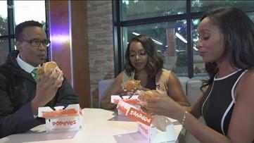 Popeyes vs. Chick-fil-A | Up Late team tastes new Popeyes chicken sandwich