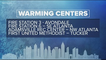 Warming centers open across the metro due to sub-freezing temperatures