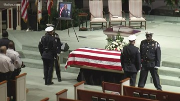 Crowds gather to honor slain Savannah officer