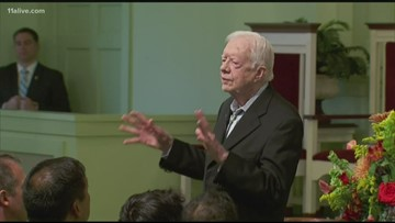 President Jimmy Carter re-admitted to hospital over the weekend