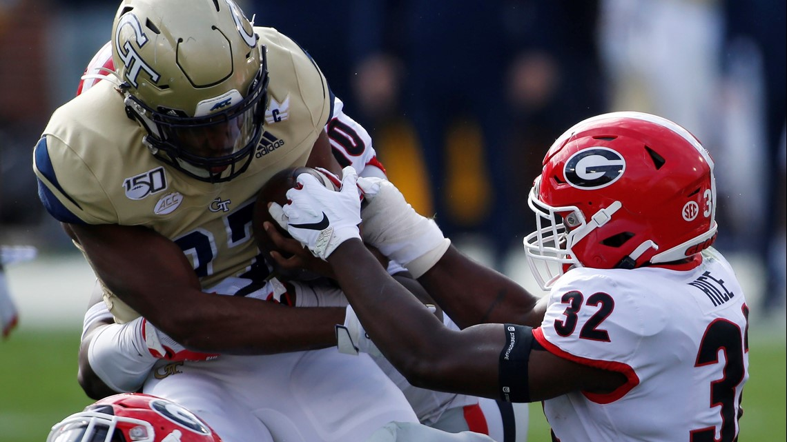 Georgia Closes Regular Season With 52 7 Rout Of Tech 11alive Com