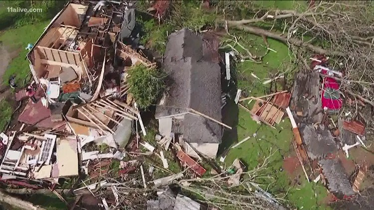 President Biden approves Georgia disaster declaration for areas impacted by 'violent' March tornado