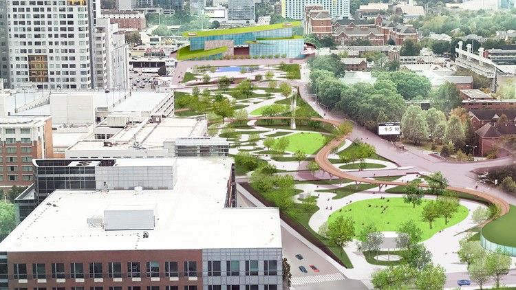 Proposed Midtown green space over Downtown Connector could cost $1.2 billion