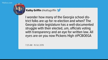Kathy Griffin calls out Pickens County for bathroom policy regarding transgender students