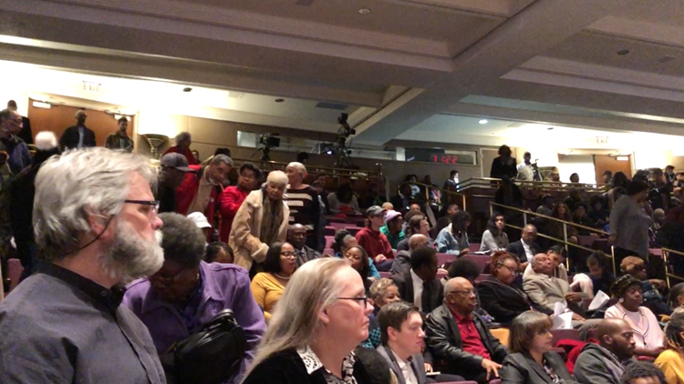Packed house at Fulton County Commission Meeting