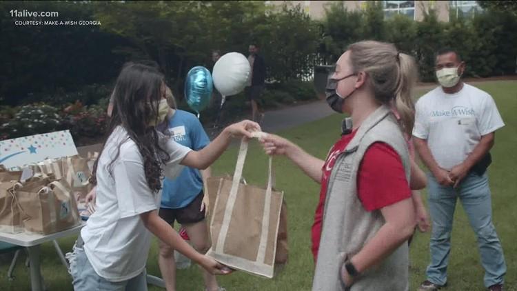 Teen uses Make-A-Wish Georgia to honor healthcare workers