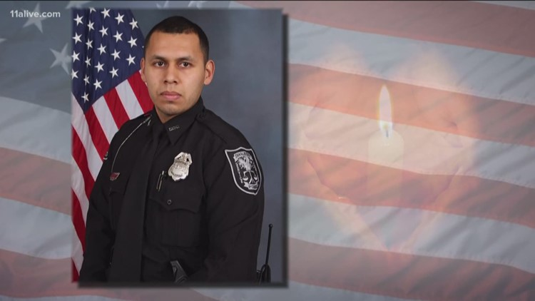 Family, friends say final goodbye for DeKalb County Officer Flores