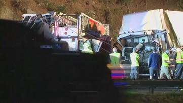 Man dies when semi hits fire truck on I-20