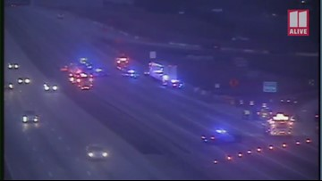400 northbound at Abernathy Drive blocked by multi-vehicle wreck