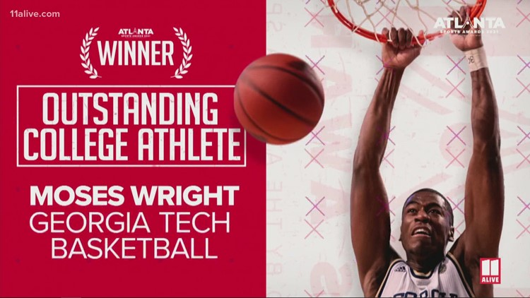 GT basketball's Moses Wright is the 2021 Atlanta Sports Awards Most Outstanding College Athlete