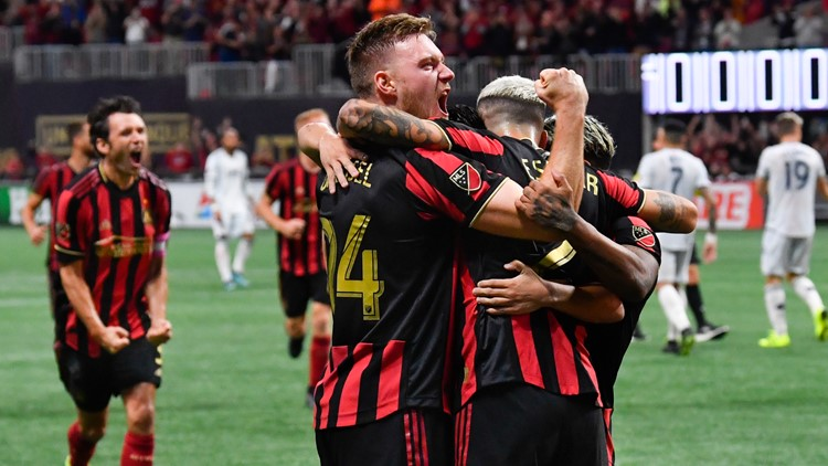 Escobar goal sends Atlanta United past New England 1-0 in MLS playoffs