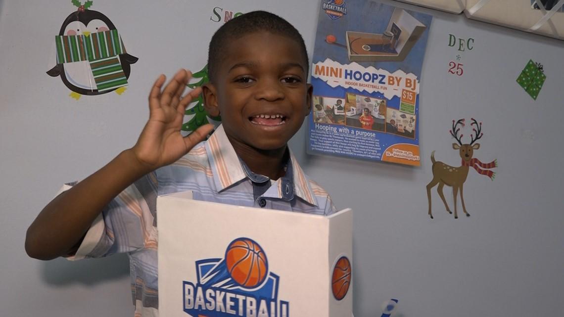 5-year-old entrepreneur creates mini basketball game