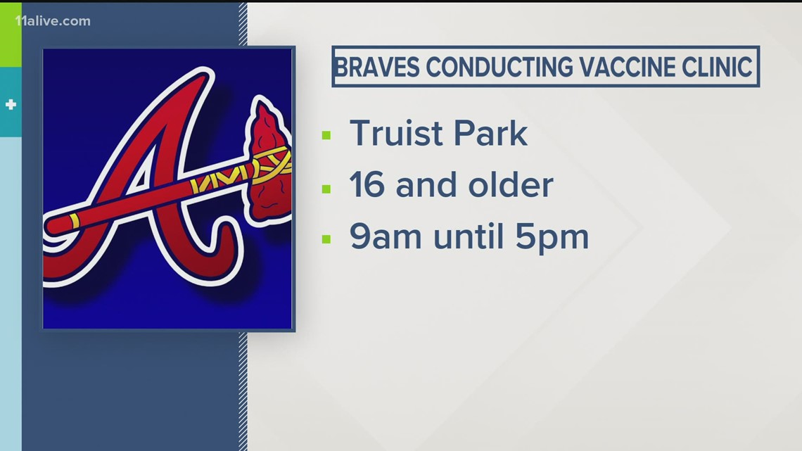 Going to the Braves game tonight? You can get a COVID vaccine