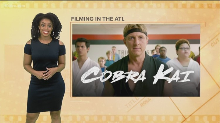 YouTube series of 'Cobra Kai' being filmed in Atlanta