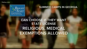 Could children end up catching measles at a summer camp in Georgia?
