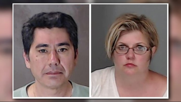 Booking photos of Daniel Ash and Linda Whitmore-Ash from DeKalb County Jail.