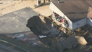 Gas station owner facing citations after massive sinkhole