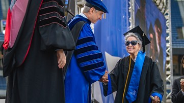 At 93 years old, she earned her college degree from Georgia State