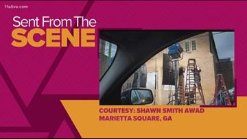 Aretha Franklin docu-series seen filming around Marietta Square