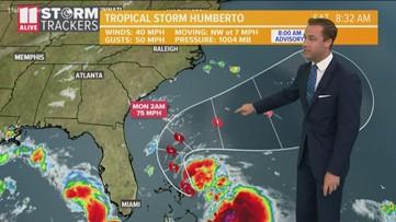 Tracking Tropical Storm Humberto Saturday morning