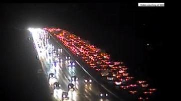 Multiple traffic flash points around Atlanta, including major backup on GA-400