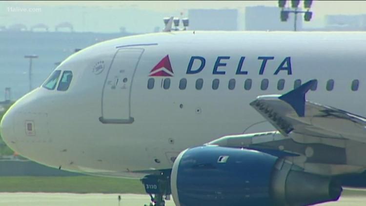 Delta says storm delays affecting Atlanta flights on Saturday