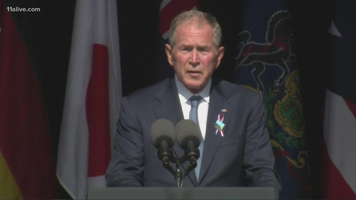George W. Bush speaks to mark 20 years since 9/11