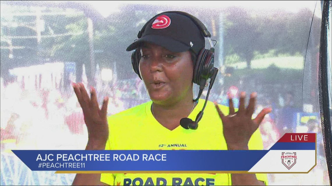 Mayor Bottoms talks about crossing finish line, post-race meal, the Hawks