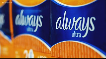 Always removes Venus female symbol from packaging of menstruation products