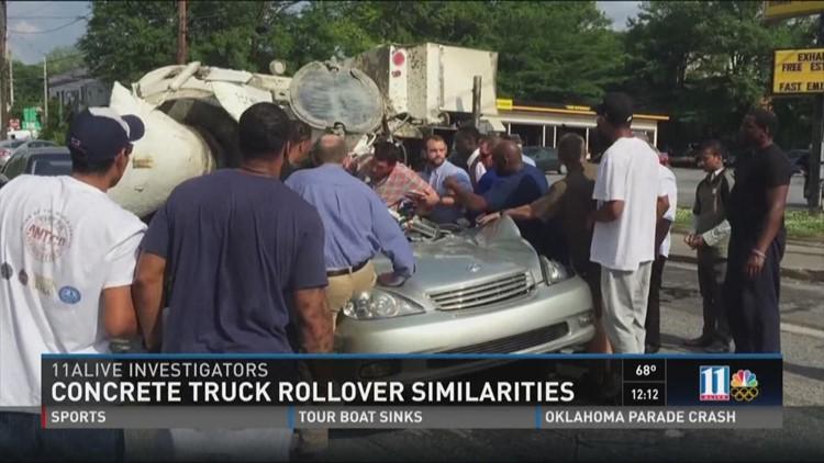PREVIEW: Concrete truck rollovers | 11alive com