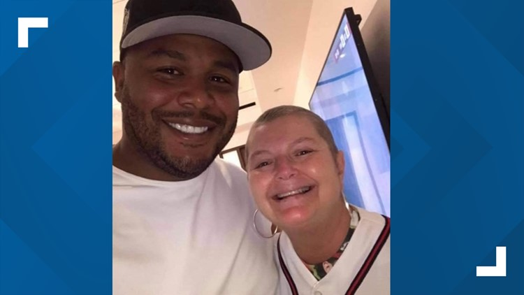 Braves fan who finished chemo, met hero meets a legend after invite to game by fellow fan who heard her story