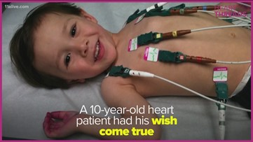 Boy  born with heart defect doesn't let it stop him living his dream