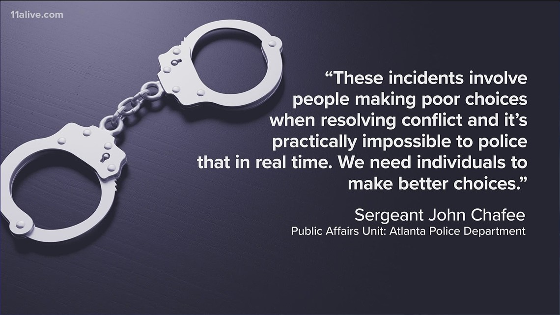 Atlanta Police respond after violent weekend in Atlanta: Shootings result of 'poor choices when resolving conflict'