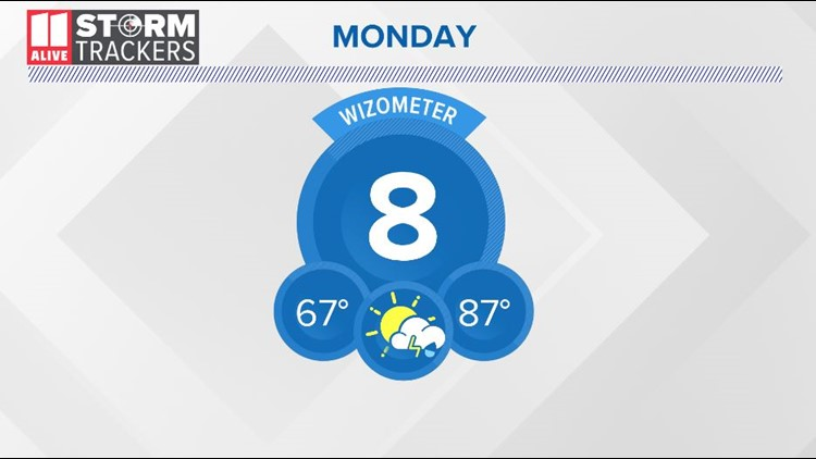 Unseasonably warm with a few isolated showers